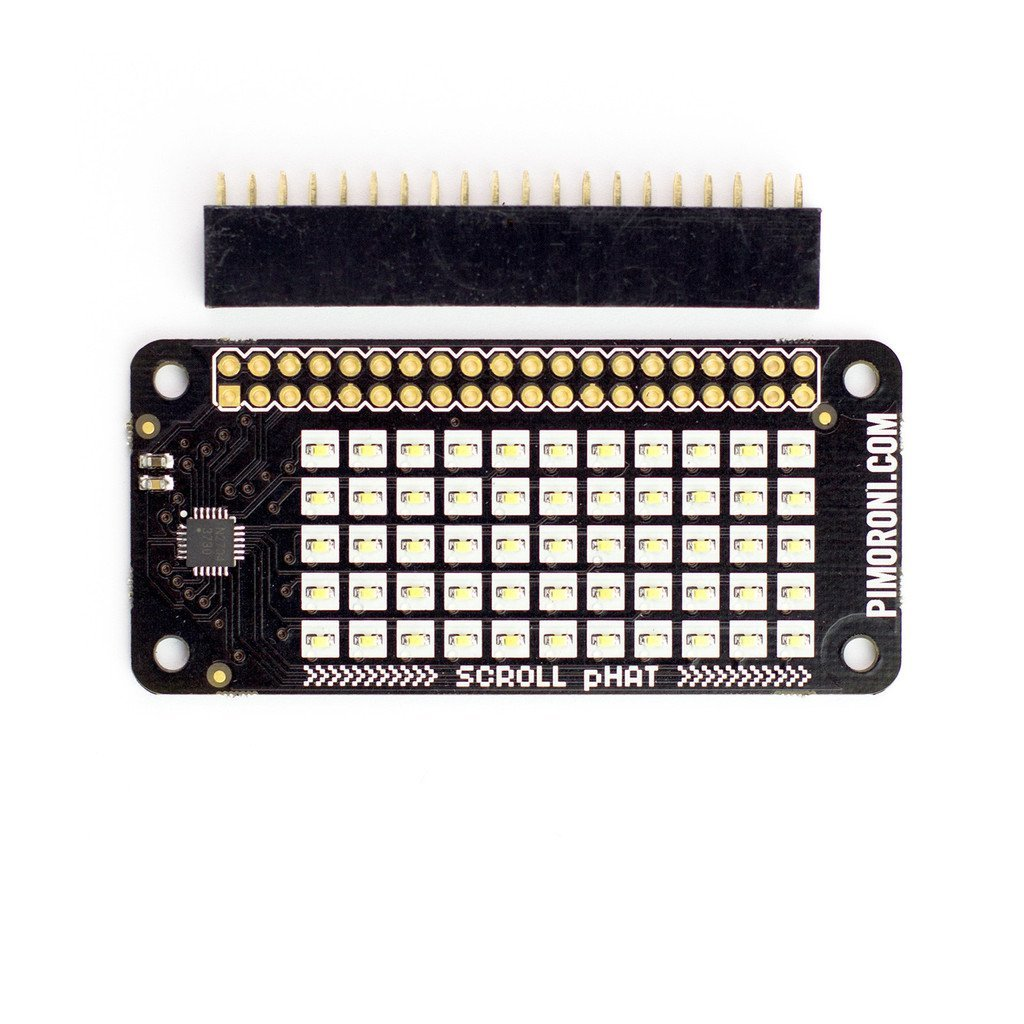 Pimoroni Scroll pHAT for Raspberry Pi Zero / 3 / 2 / B+ / A+ PIM136