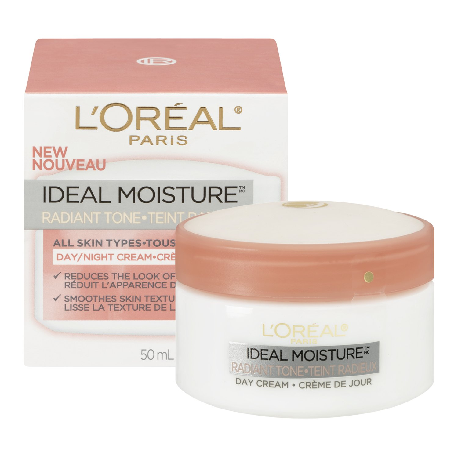 Amazon.com: LOreal Paris Ideal Moisture Even Skin Tone Facial Day/Night Cream, All Skin Types: Prime Pantry