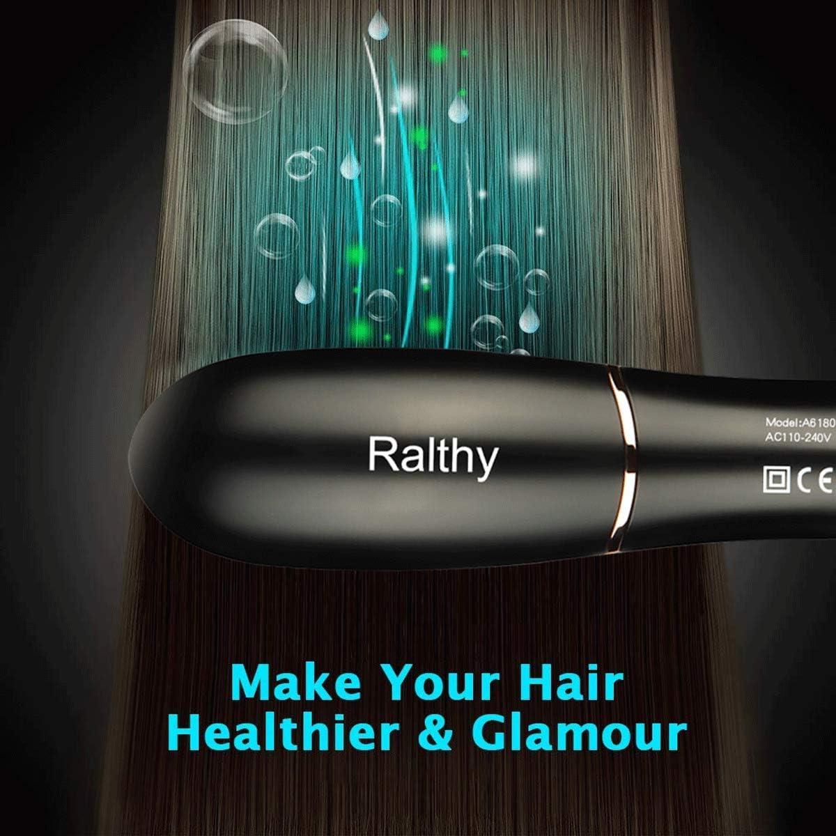 Cepillo alisador de cabello Ralthy Ionic, cepillo alisador de ...