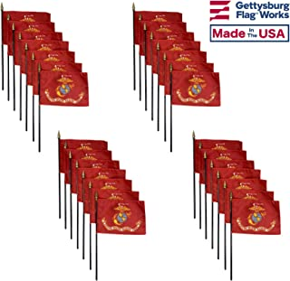 product image for 4x6 E-Gloss United States Marine Corps (USMC) Stick Flag - Flag Only - Qty 24