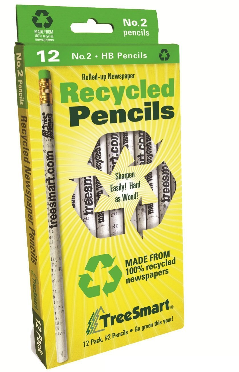 Treesmart Recycled Newspaper Pencils Recycled (12 Pencils) (Pack 6) of Pencils 6) B00PV9FX20, BROOCH:1dc44938 --- anime-portal.club