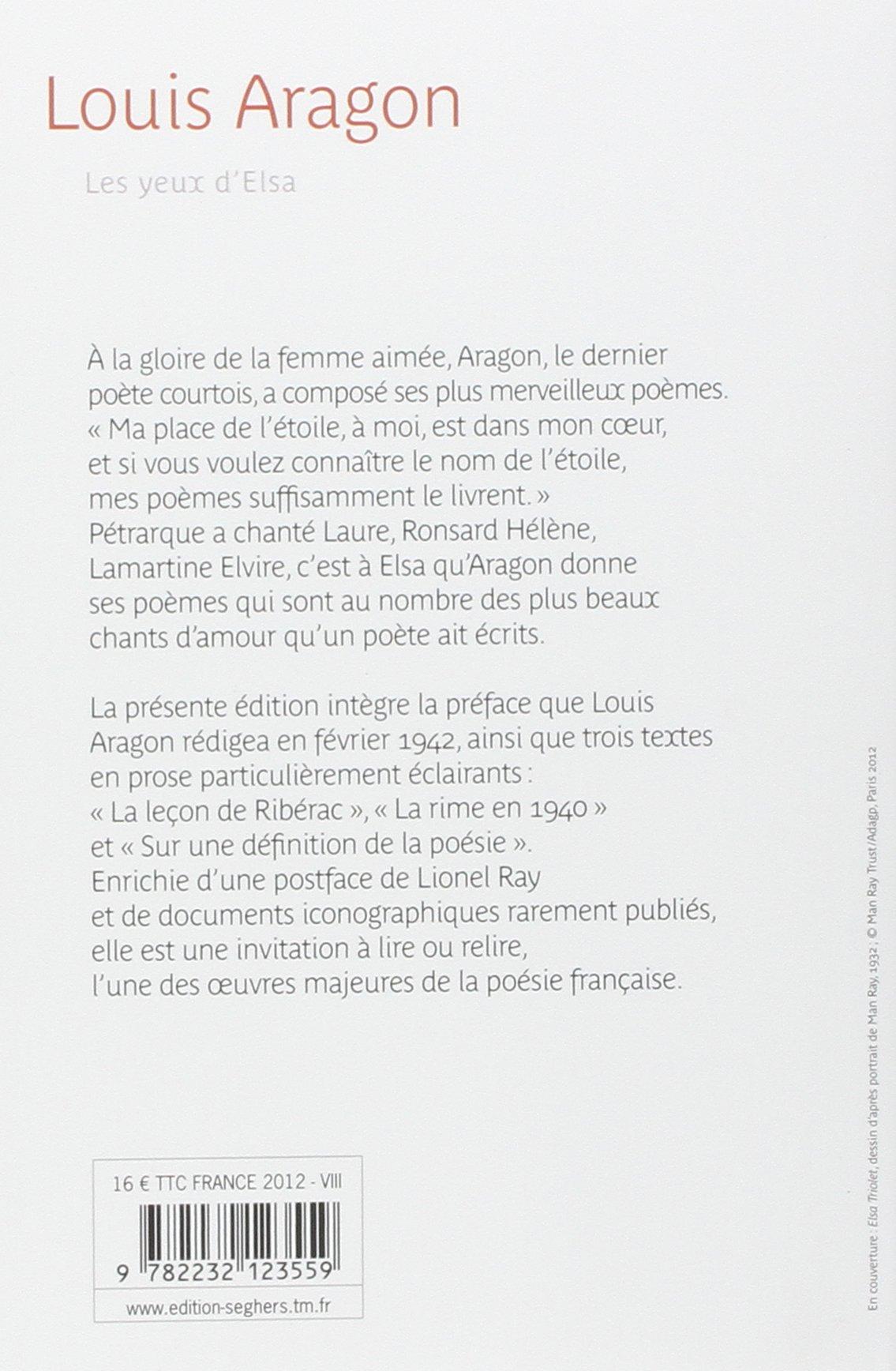 Les Yeux Delsa Poésie Dabord Amazones Louis Aragon