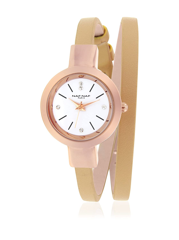 Naf Naf Reloj de Cuarzo Woman Dble Turn Classic 26.0 mm: Amazon.es: Relojes