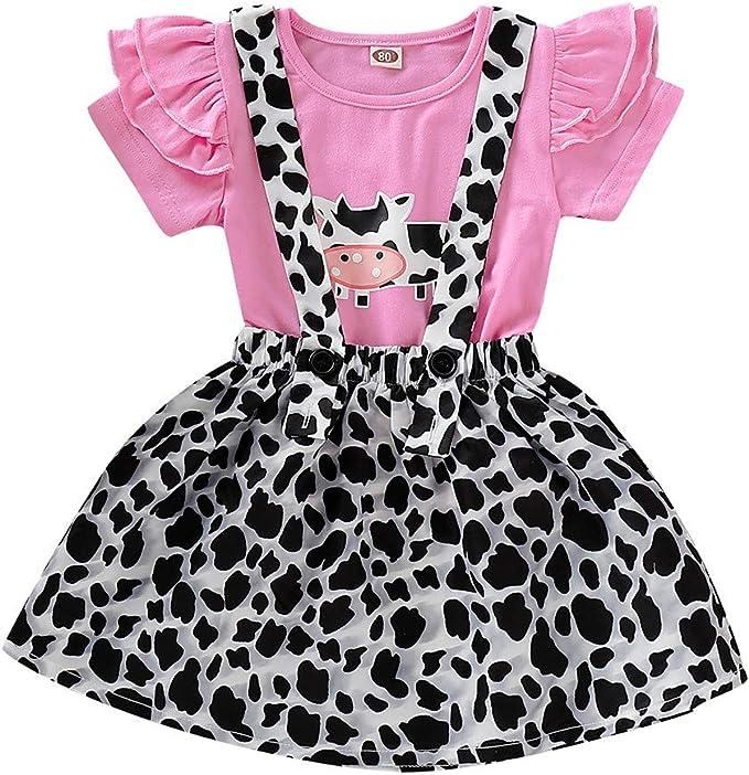 QinMMROPA bebé niña Ropa Conjuntos, Camiseta Tops y Falda Peto ...