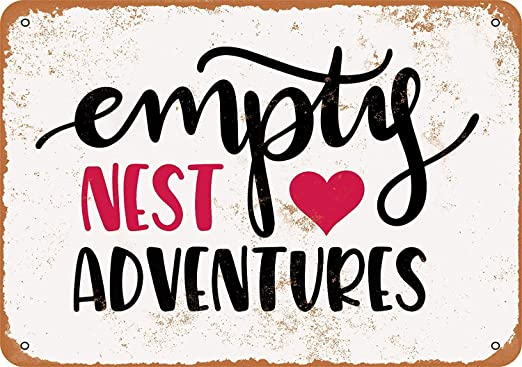 BORJOR Empty Nest Adventures -Cartel de Pared estaño Placa ...
