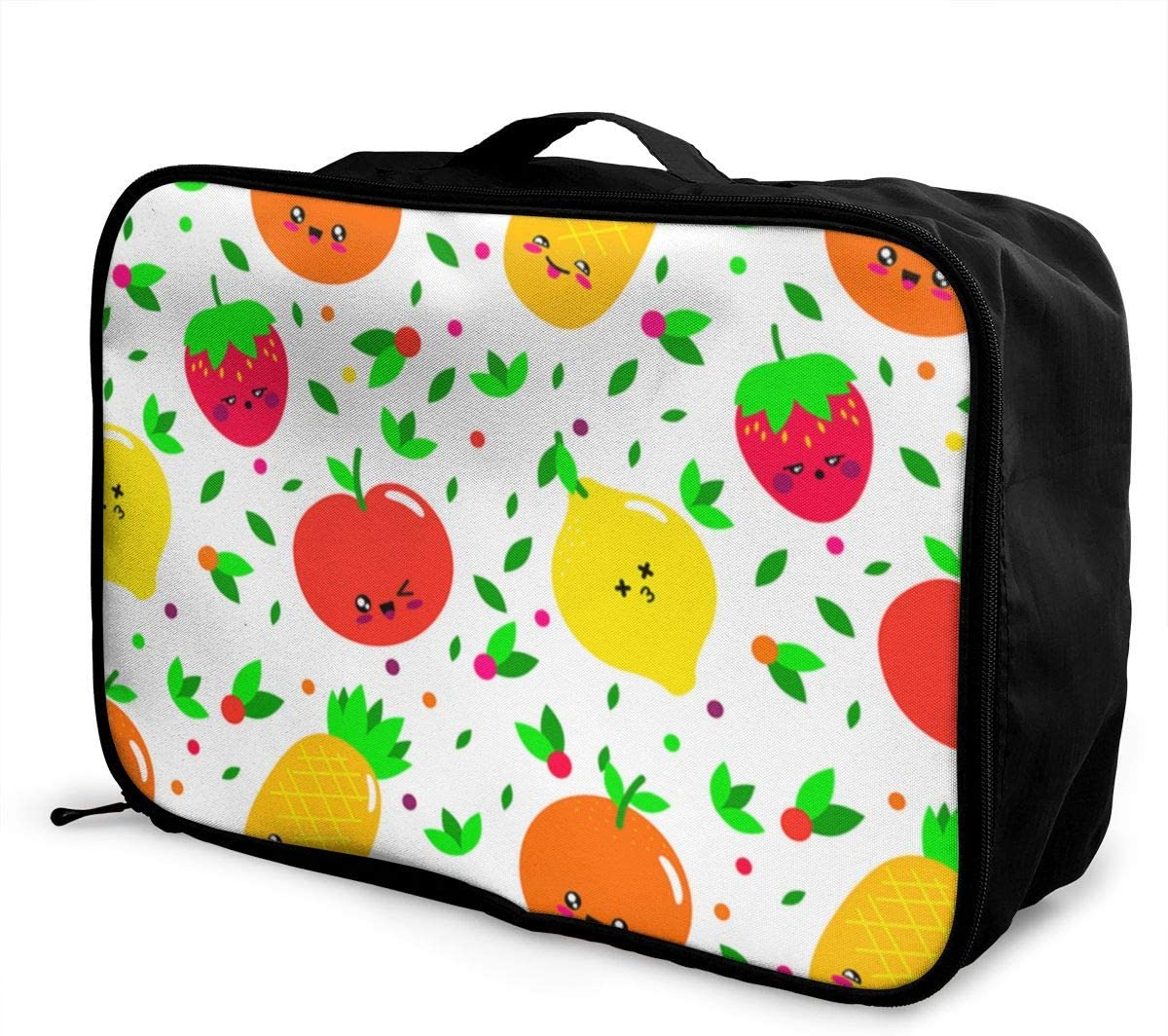 Yunshm Rejuvenation Of Small Fresh Fruits Personalized Trolley Handbag Waterproof Unisex Large Capacity For Business Travel Storage