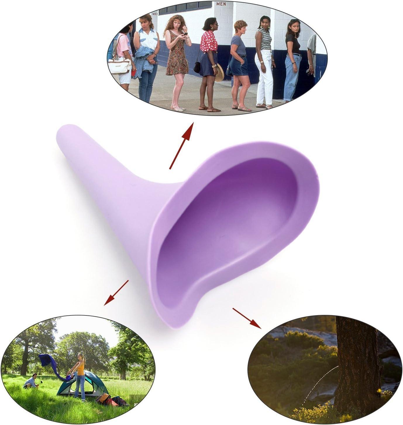 urinoir portable voyage de camping WC ; lot de 4 Dispositif de miction pour femme urinoir l/éger en silicone pour femme pour voyage ext/érieur