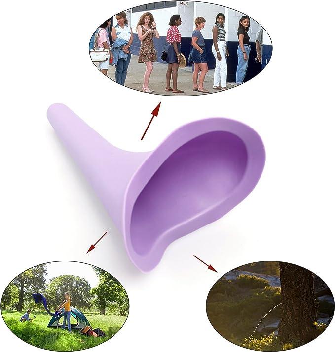 Urinoir Femelle Permet aux femmes de faire pipi debout en plein air N-A 3pcs Urinoir Femme- Urinoir Portable Souple randonn/ée Camping activit/és de plein air et plus