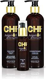 CHI Argan Oil plus Moringa Oil Luxe Trio Kit with Shampoo,