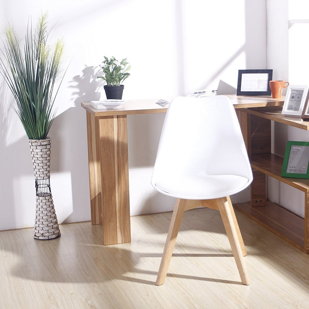 Kitchen Chairs White: Set Of 4 Dining Chair Retro Kitchen Chairs Home Office