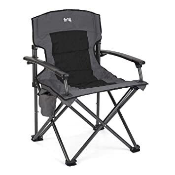 Luxury Folding Camping Chair Padded Outdoor Seat With Pockets