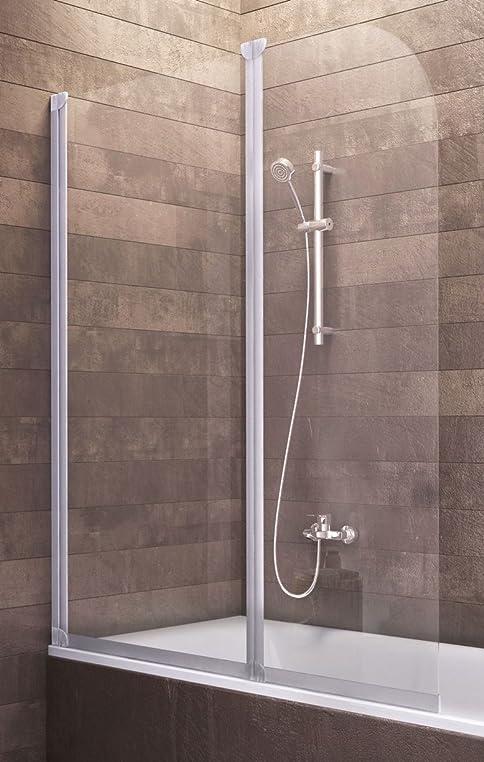 badewannenaufsatz duschabtrennung badewanne kln 140x114 cm von schulte sicherheitsglas klar profile alu natur - Duschkabine Badewanne Mehr Praktisch Und Komfortabel