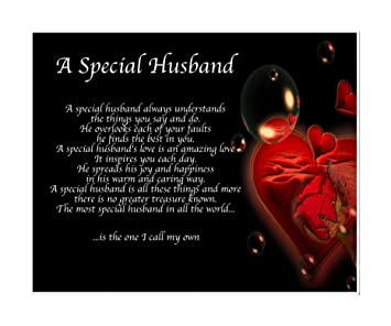 Personalised A Special Husband Poem Birthday Valentines Day Mothers Day Christmas Sister Anniversary Husband Wife Boyfriend Girlfriend Present Gift