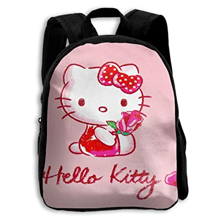 2bab733e1167 Image Unavailable. Image not available for. Color  CHLING Kids Backpack  Hello Kitty with Rose Print Childrens School Bag Teenager Bookbag for Boys  Girls