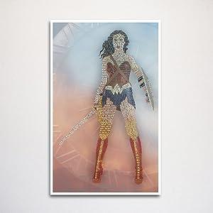 Wonder Woman typography art print 11x17