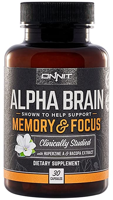 Onnit Alpha Brain: Clinically Studied Nootropic for Memory, Focus, and Mental Clarity (30ct)