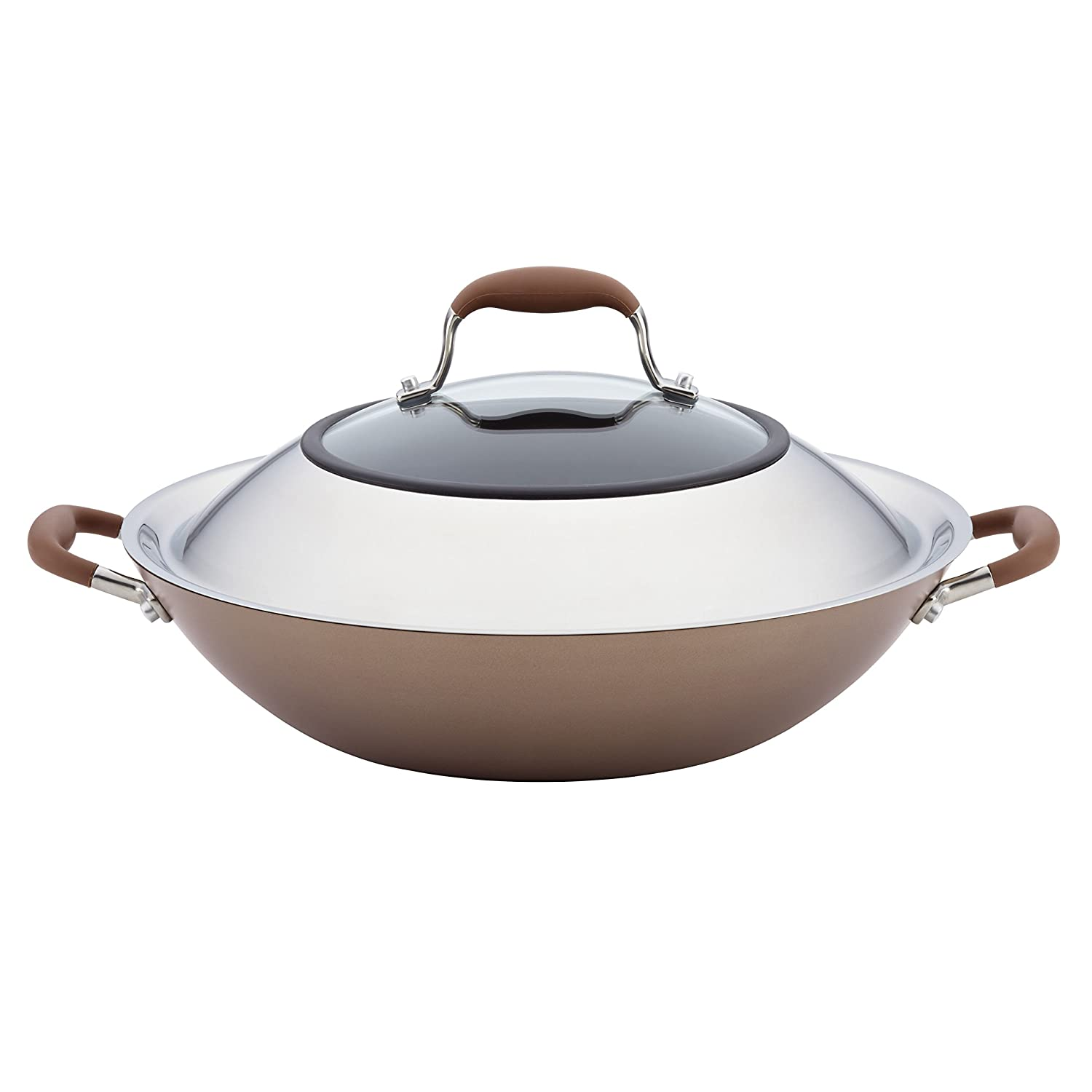 Anolon Advanced Bronze Hard-Anodized Nonstick 14-Inch Covered Wok Meyer 84058