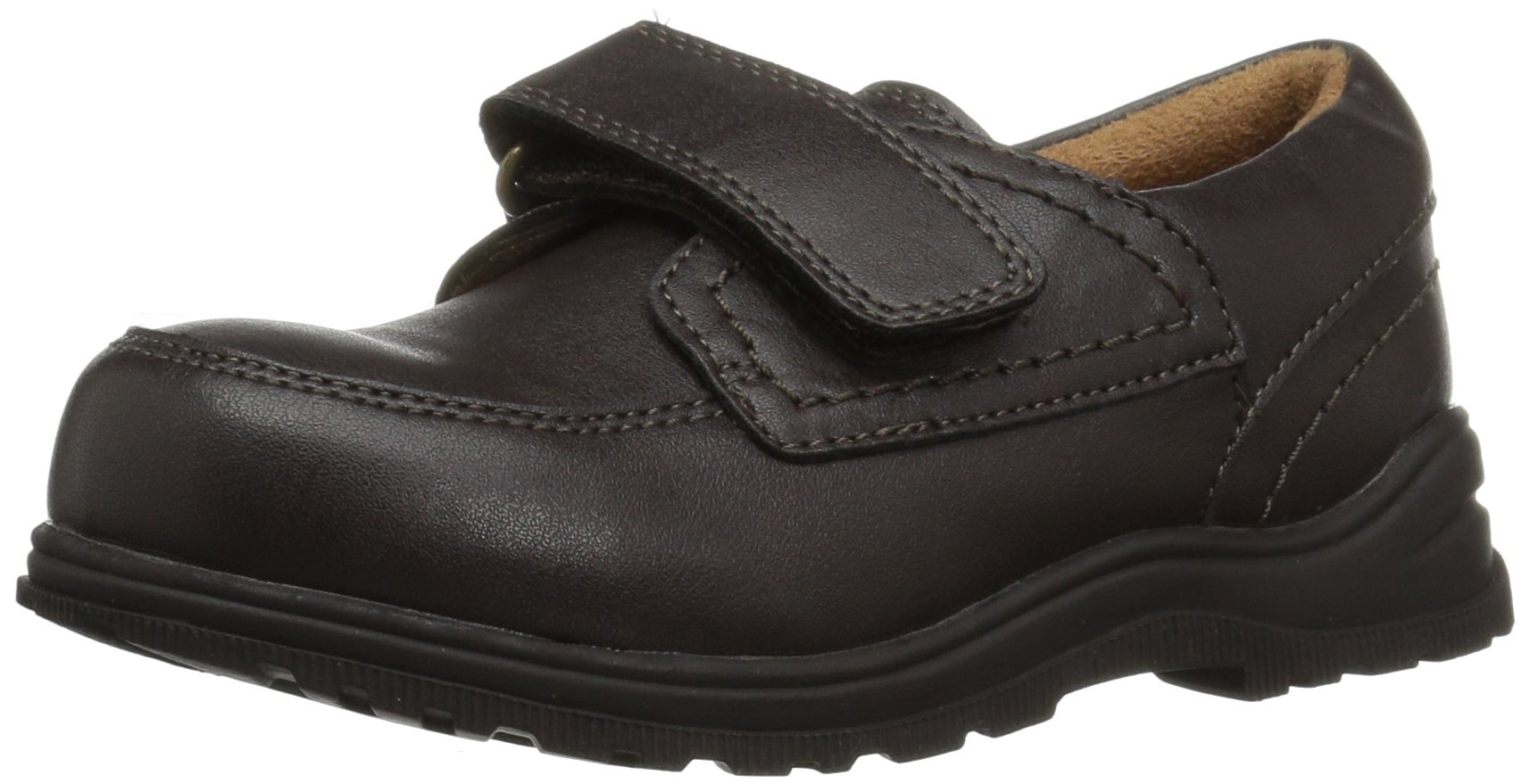 The Children's Place Boys' E TB UNIF RSVP Uniform Dress Shoe, Brown, TDDLR 11 US Toddler