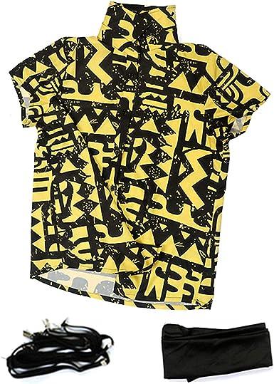 Stranger Things Eleven - Camiseta de Manga Corta para Cosplay con Correa y máscara para los Ojos, diseño Original, algodón Amarillo - Negro - XX-Large: Amazon.es: Ropa y accesorios