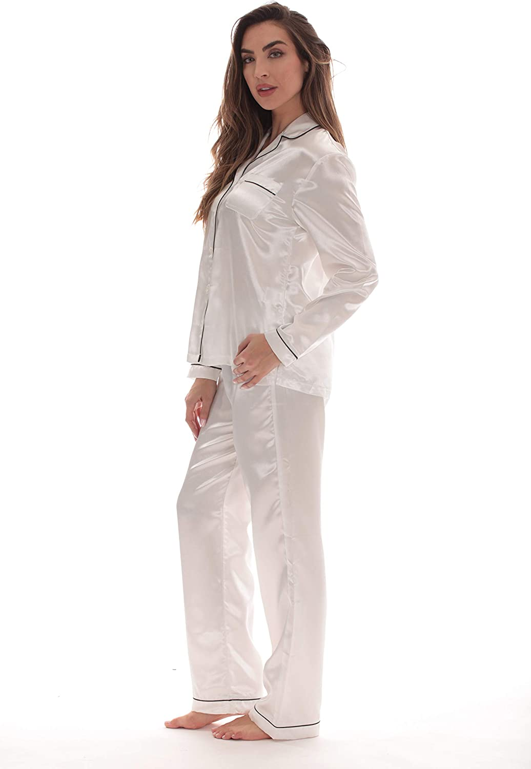 Just Love Pants Set with Notch Collar