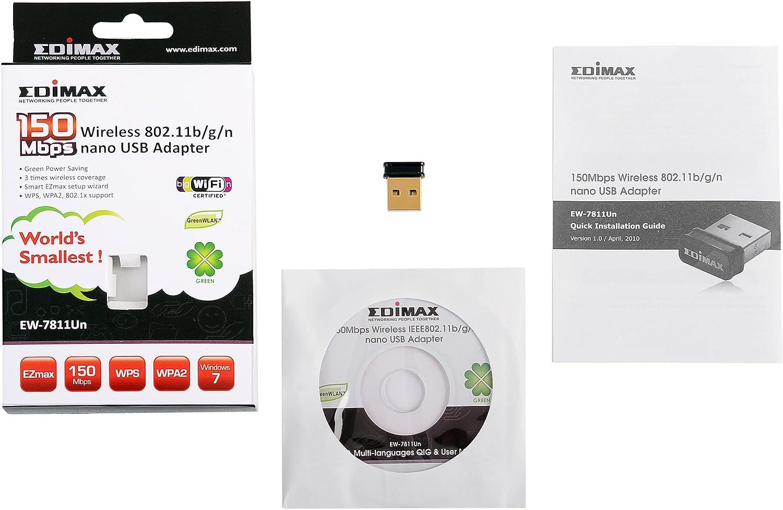 Edimax Ew 7811un Super Mini Wlan Usb Stick Version 1 Computer Zubehör