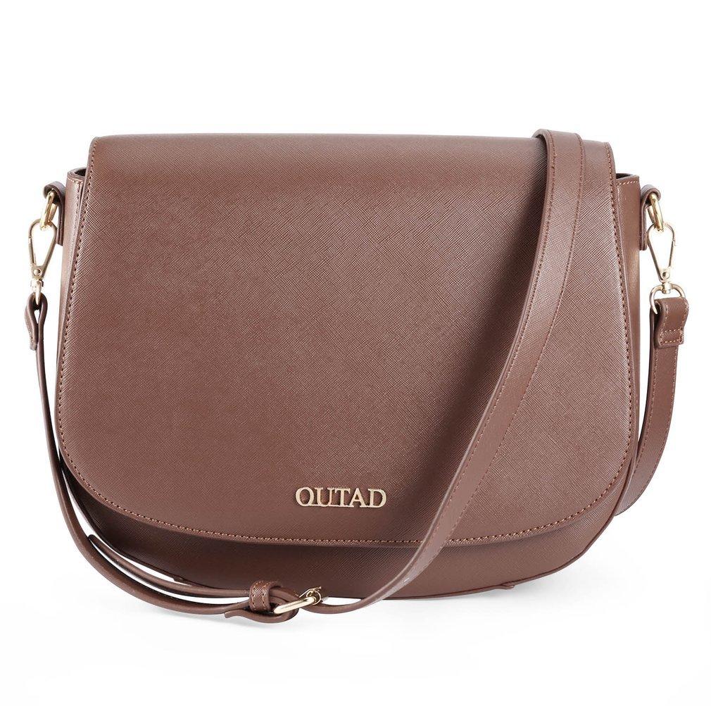 Clearance Women Top Handle Satchel Handbags Shoulder Bag With Shoulder Strap (brown)
