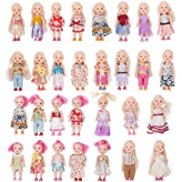 WP Toys Pack of 10 4'' Mini Doll with Colorful Clothes Costume(Pack of 10 Doll )