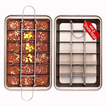 SUJUDE Non-Stick Divided Brownie Pan