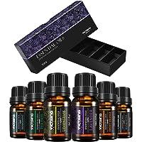 VicTsing Aceites Esenciales para Difusor,100% Pure Natural,Perfume de Aromaterapia, 6*10ml-Naranja Dulce, Lavanda, Arbol de Té, Hierba de Limón, Eucalipto y Menta,etc.Incoloro