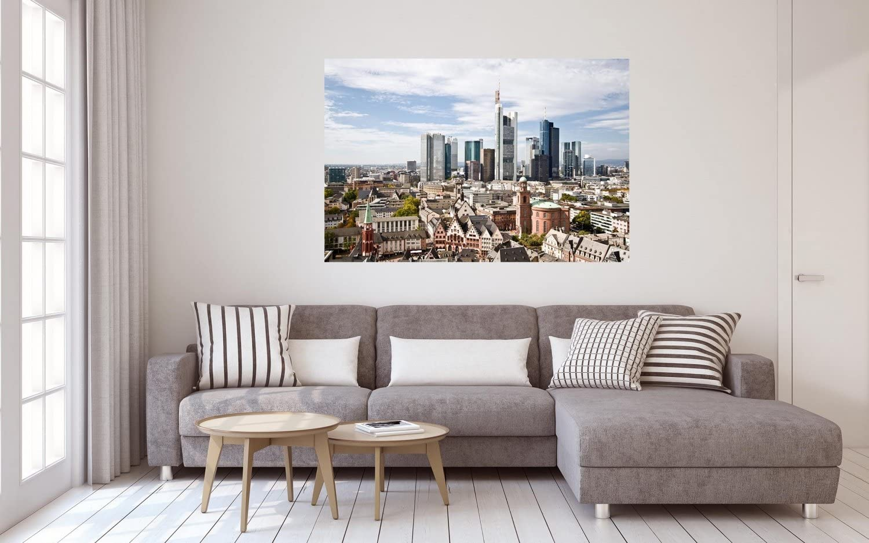 Frankfurt Stadt Skyline City Leinwand Bild Wandbild Kunstdruck L0307 Gr/ö/ße 70 cm x 50 cm