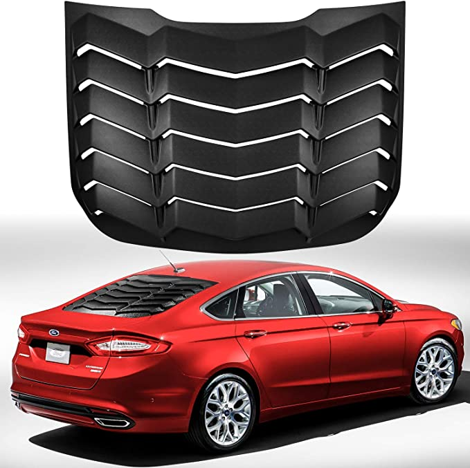 1PCS Rear Window Louver TeddyTT Rear Side Window Scoop Louvers Windshield Sun Shade Cover 3pcs Compatible with Ford Fusion 2013 2014 2015 2016 2017 2018 2019 2020