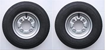 """Pair of Trailer Wheels 400 X 8/""""PCD *Next Day Delivery* 4 Stud on 115mm"""