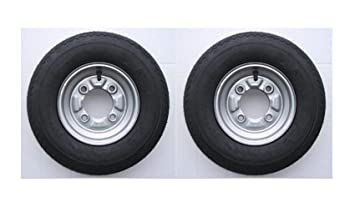 1 par de ruedas completas para remolque (400 x 8 pulgadas) - Neumáticos de