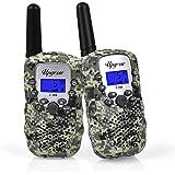 Upgrow Walkie Talkies 8 Channel 2 Way Radio Kids Toys Wireless 0.5W PMR446 Long Distance Range Walkie Talkie for Field Survival Biking and Hiking (Camouflage)