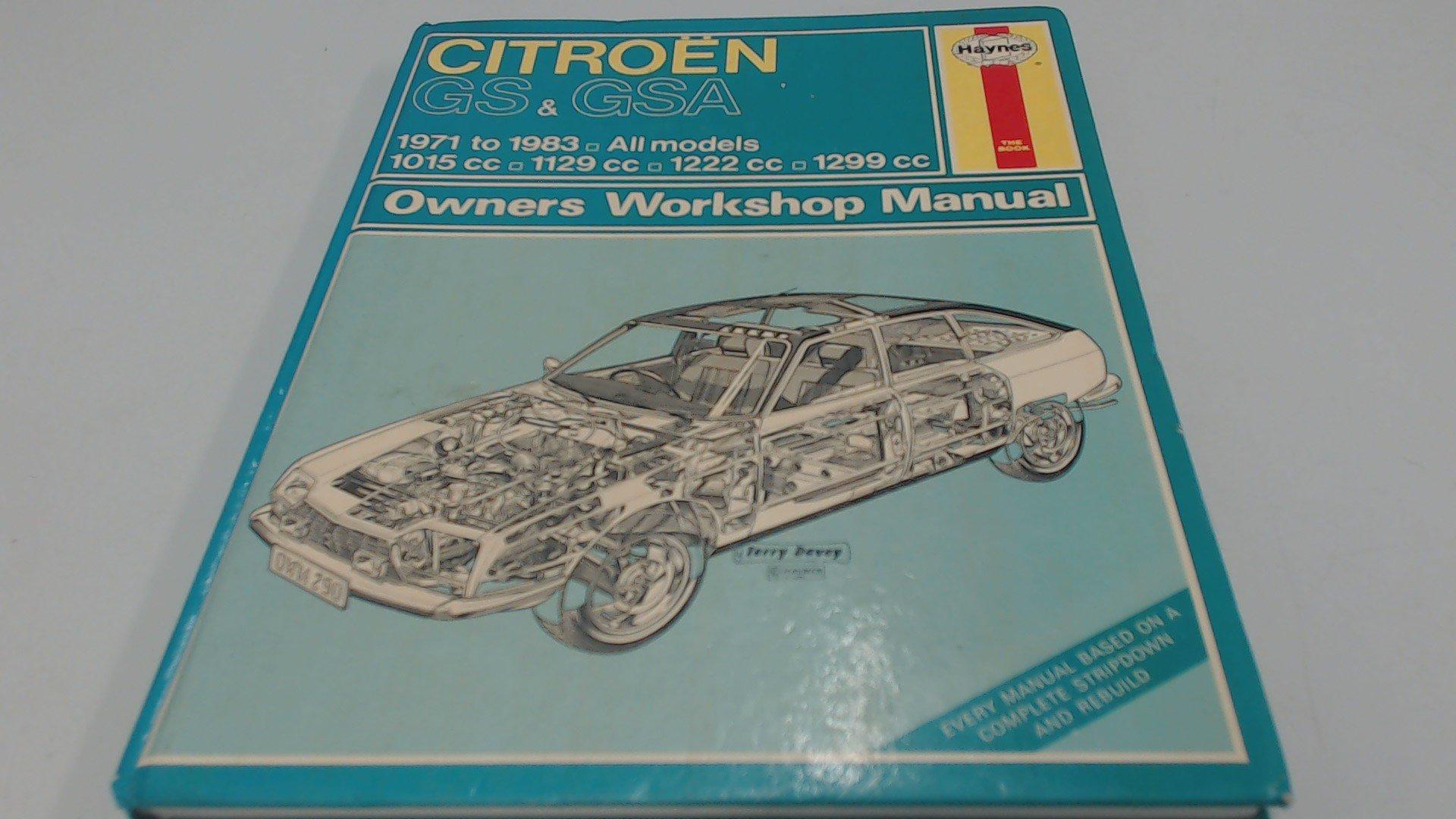 citroen gs gsa 1971 1985 service repair manual