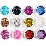 Mode Galerie 12 Couleur Grande Paillette UV Gel Vernis à Ongles Nail Art Polish Kit
