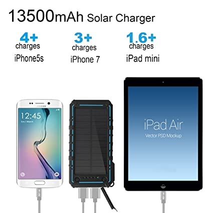 Amazon com: Solar Charger 13500mAh,WBPINE Solar Powered
