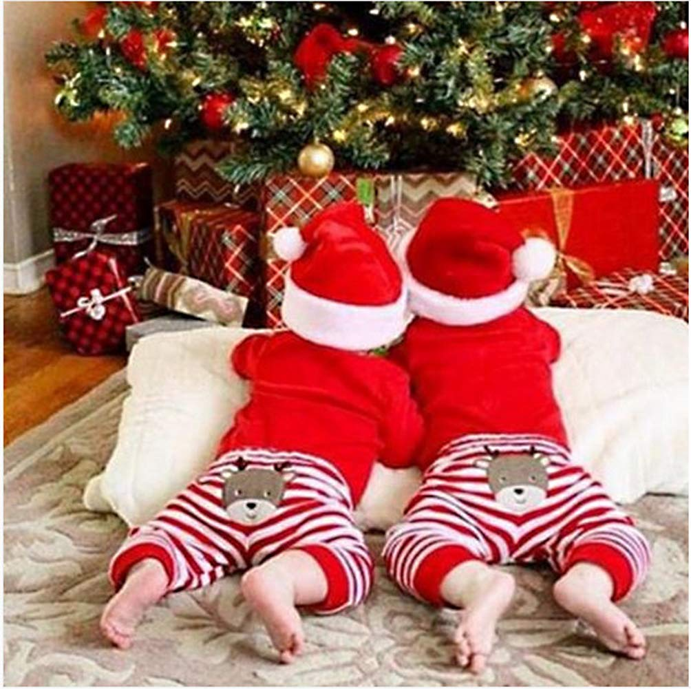 Christmas 4Pcs Outfit Set Baby Girls Boys My First Christmas Rompers(0-3 Months) by Von kilizo (Image #6)