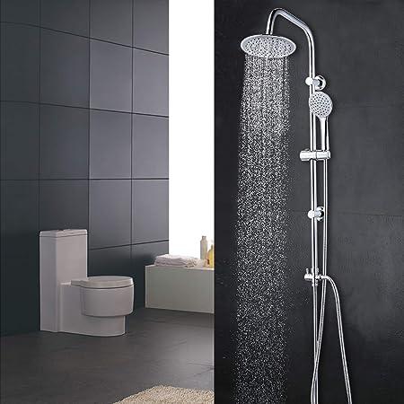 Elbe Columna de ducha sin grifo, sistema de ducha de acero ...