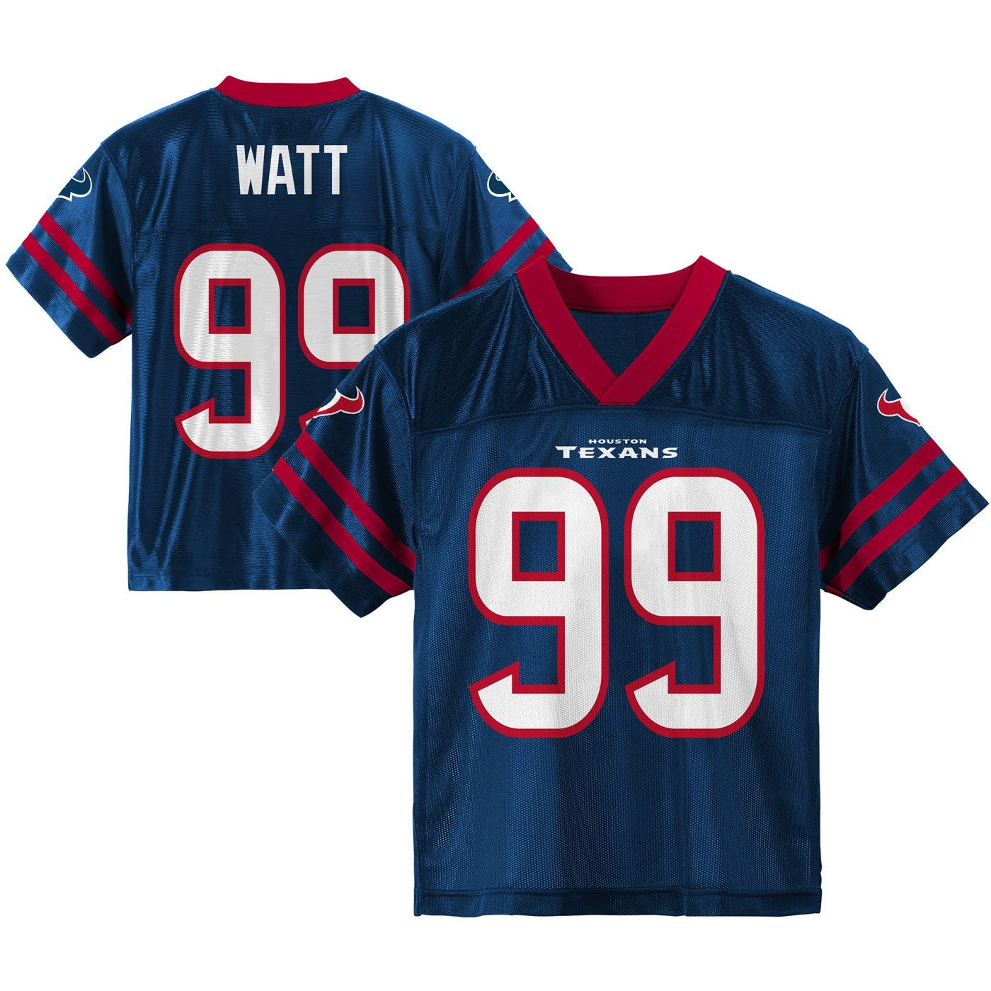 Watt Houston Texans #99 Navy Blue Youth Home Player Jersey J.J