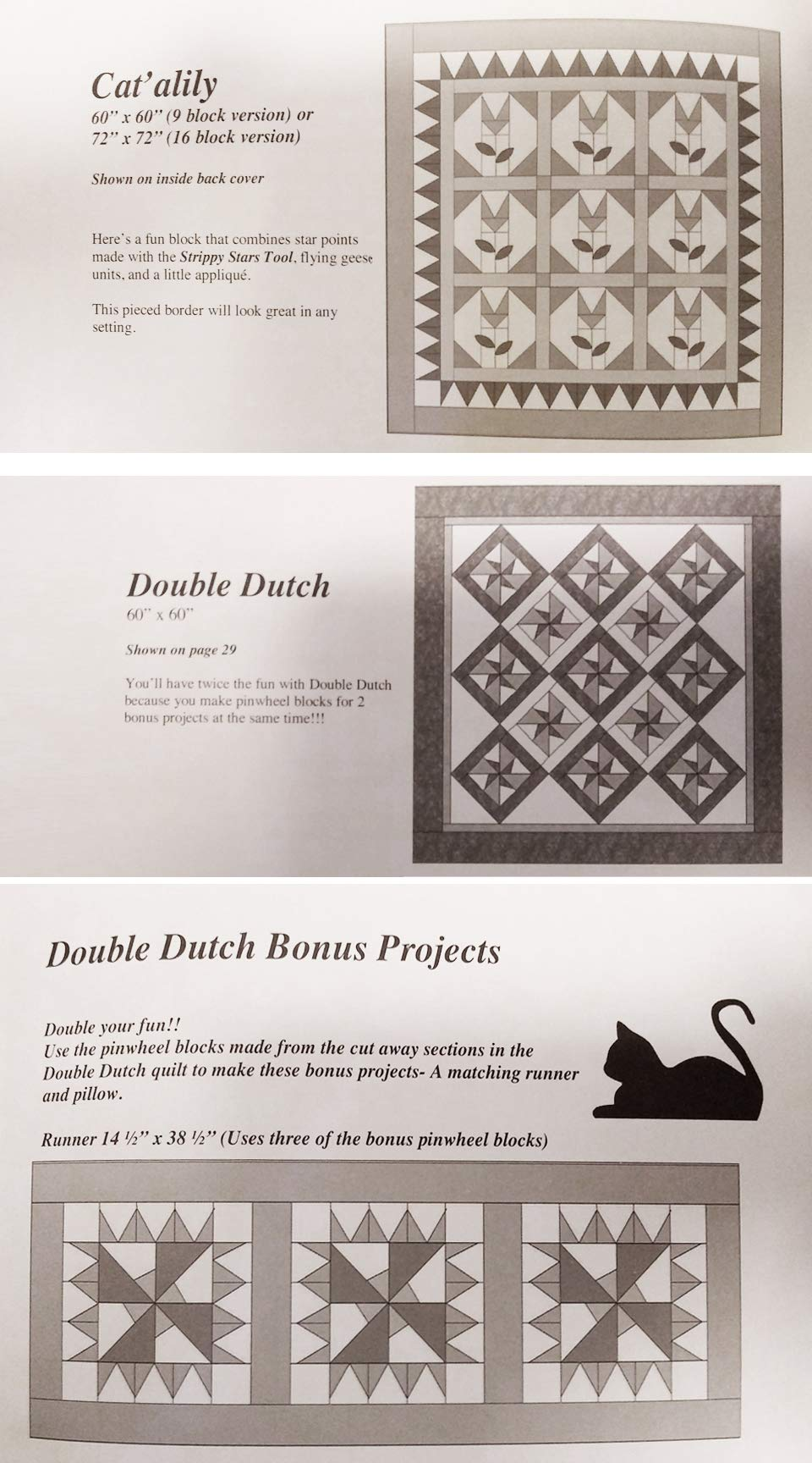 Deb's Cats N Quilts Bundle - The Strippy Stars Book & Creative Grids Strippy Stars Tool CGRDH2 by Deb's Cats N Quilts / Creative Grids