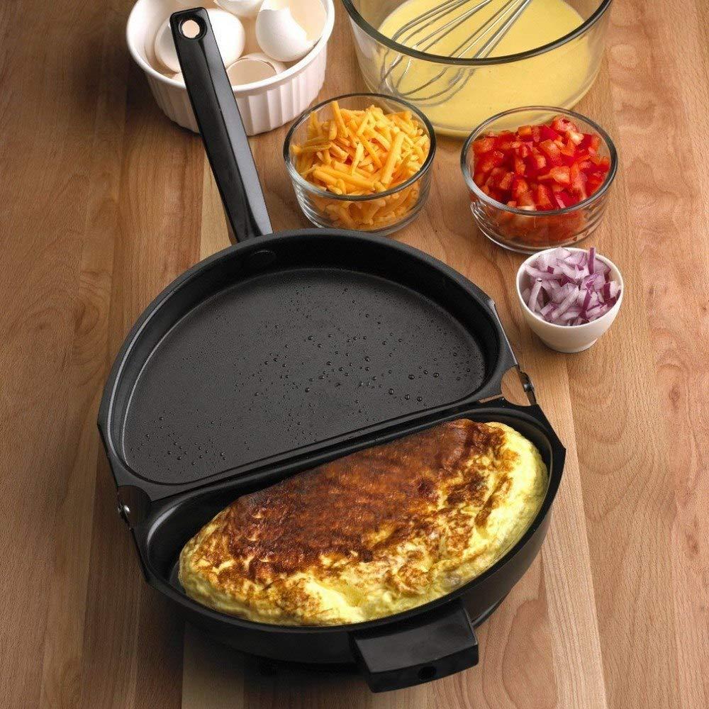 Tuzech Amazing Omelet Pan Poacher Cookware Stove-top Family Kitchen Tool Use Egg Frying Pancake waffle
