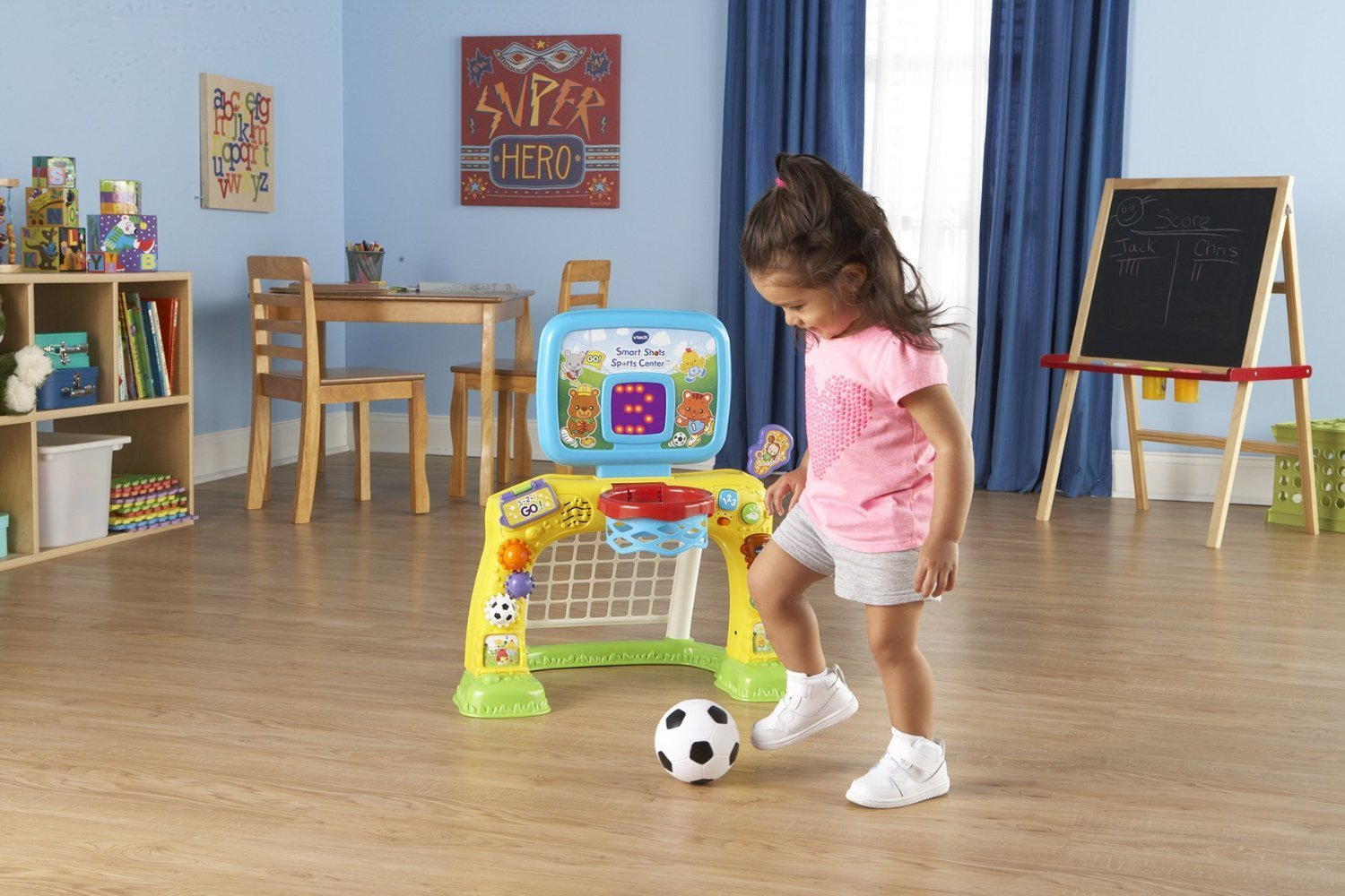 Bright Colors and Cute Design Electronic Smart Shots Sports Center, 50+ Songs, Multicolor by VTech (Image #6)