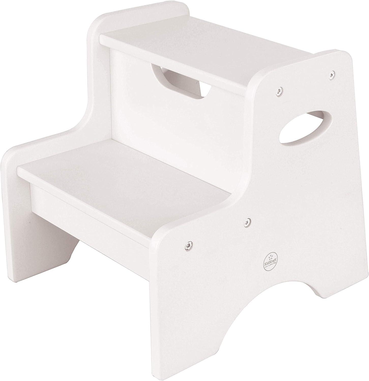 KidKraft 15501 Taburete con dos peldaños de madera, muebles para salas de juego y dormitorio de niños - Blanco: Amazon.es: Hogar