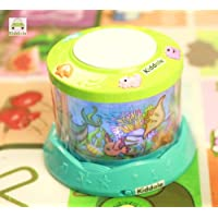 Kiddale Baby Musical Drum with Light and Sound, 360 Degree Rotation, Beautiful Ocean Journey Theme with mutsery Rhymes, Dynamic Music, Songs and Stories-Multicolor