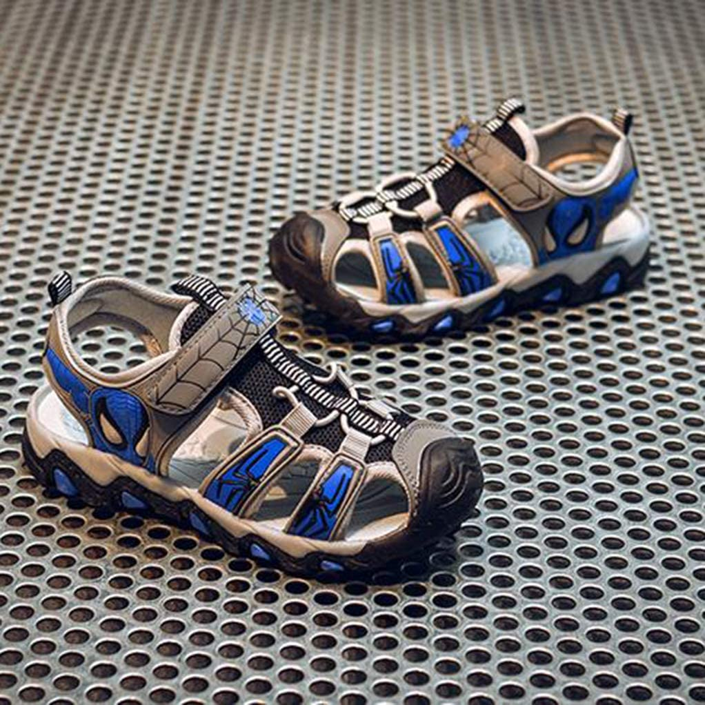 YEMAO Zapatos ni/ños Boy Spiderman Sandalias del Dedo del pie Cerrado Deportes al Aire Libre la Playa del Verano