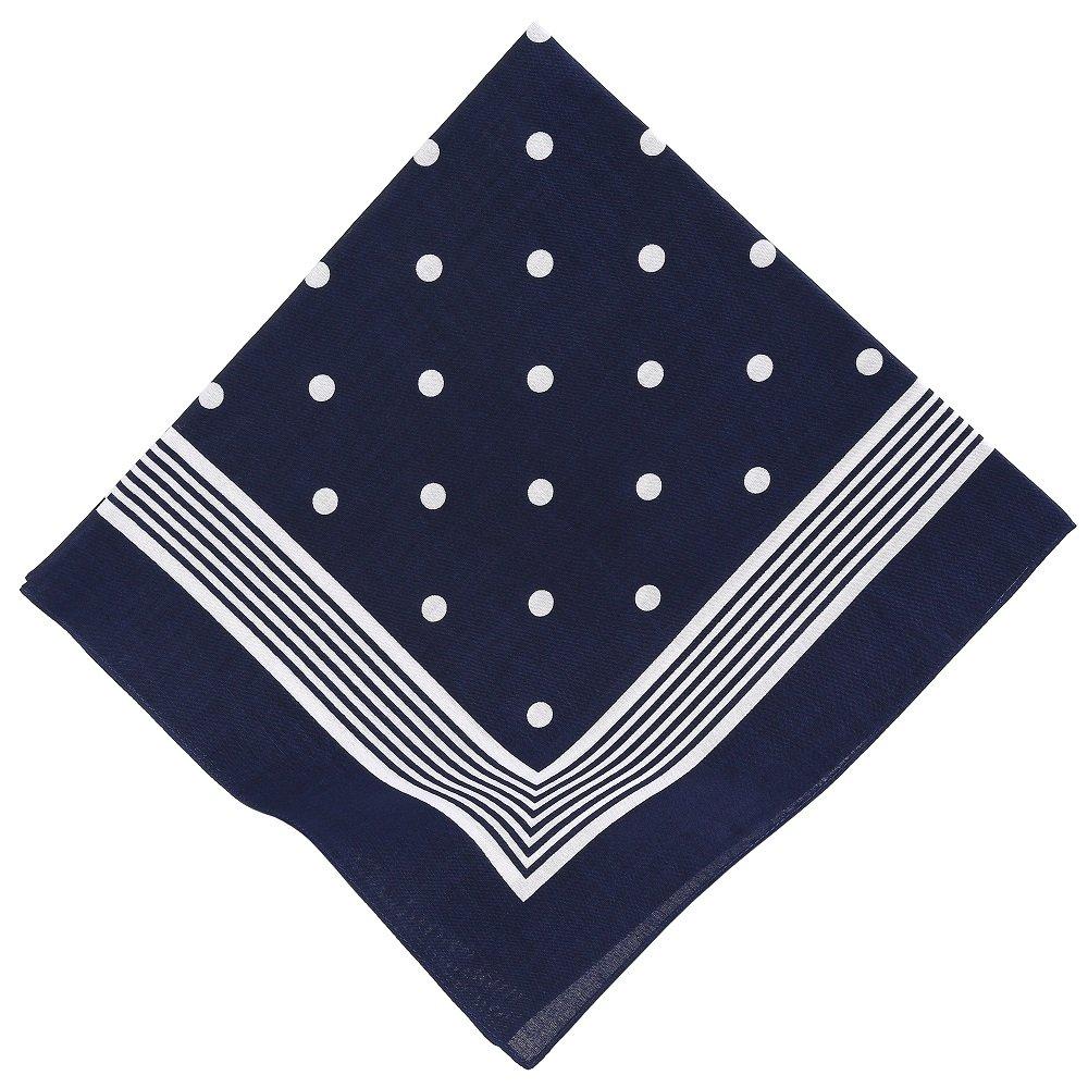 BETZ Pañuelo bandana para el cuello con el motivo de punto clasico 55 x 55 cm en los colores rojo, azul marino y negro: Amazon.es: Ropa y accesorios