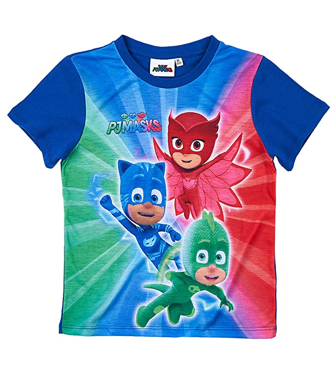 6 opinioni per PJ Masks- Super pigiamini Ragazzi Maglietta manica corta- blu marino- 128