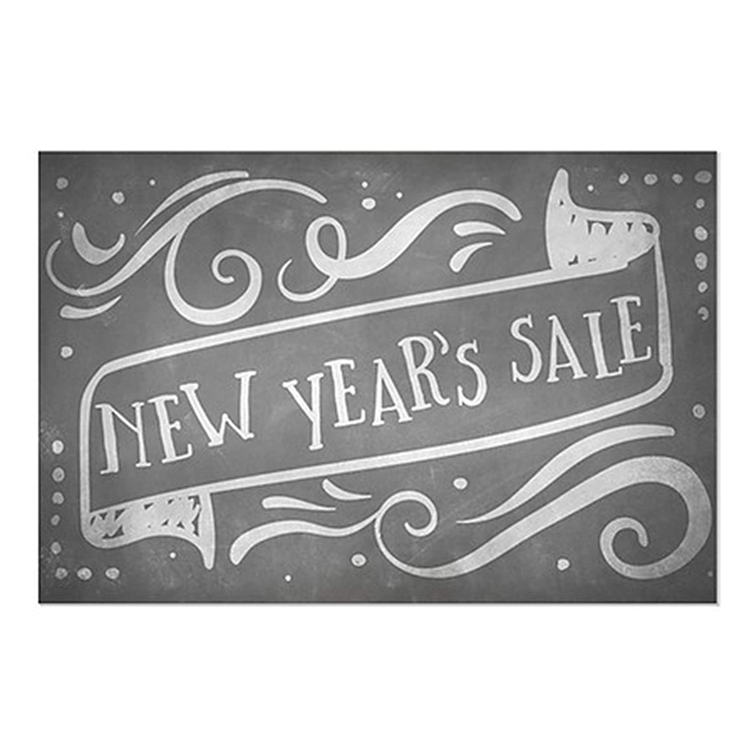 CGSignLab 24x24 5-Pack Basic Gray Clear Window Cling for Lease
