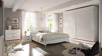Matelpro-Chambre adulte design laqué blanc Estelle II-160 x ...